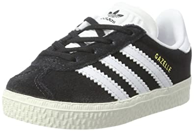 buy popular 66d1b 863da adidas Originals Gazelle I Black Suede 10 M US Infant