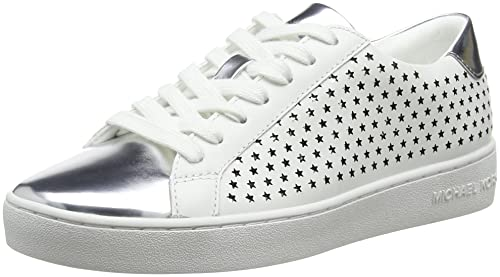 Michael Kors Optic White, Zapatos de Cordones Oxford para Mujer, Blanco (Irving Lace Up 43r8irfs1l), 38 EU