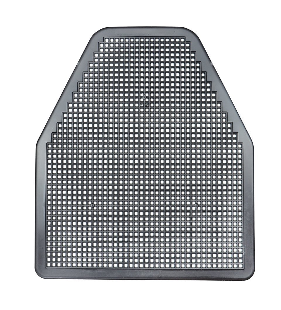 SaniPro 1452-BNT Urinal Mat, Black (Pack of 6) by SaniPro