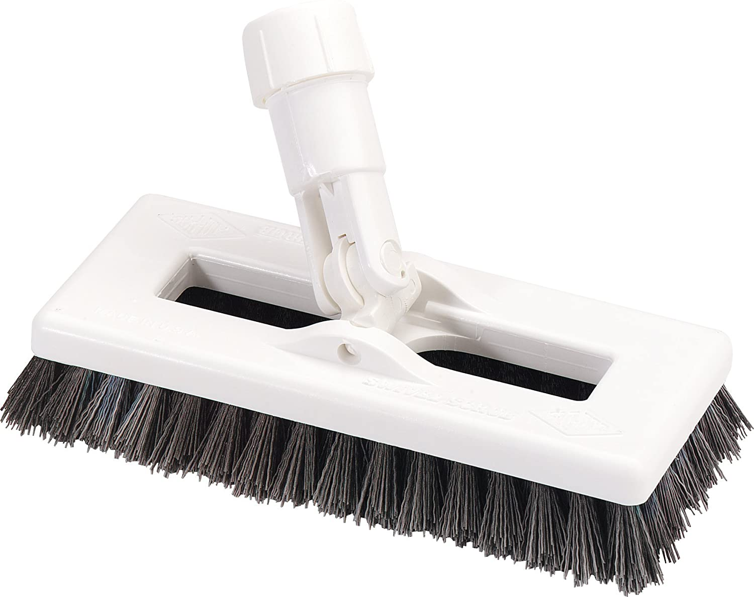 "Carlisle 363883103 Swivel Scrub Brush, 8"", Black"