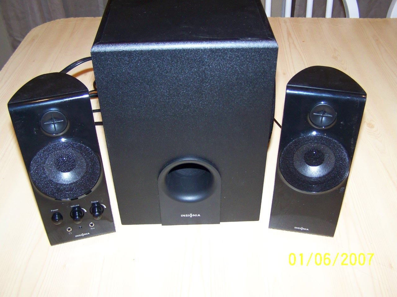 Amazon.com: Insignia 2.1 Computer Speaker System NS-PCS41 4 Piece With  Subwoofer: Computers & Accessories