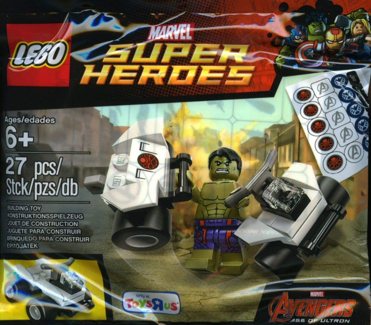 LEGO, Marvel Super Heroes, The Hulk Exclusive Minifigure Bagged