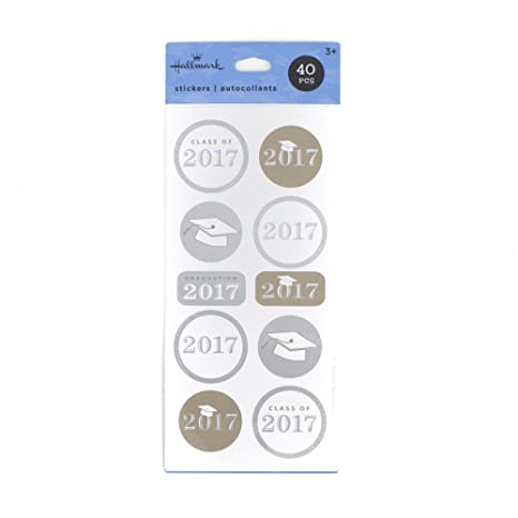 Review Hallmark 5GSS1614 Stickers, Silver,