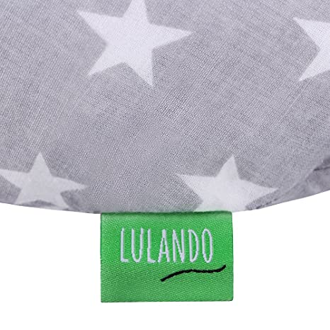 Amazon.com : Lulando Nursing Pillow, White Stars/Grey : Baby