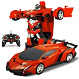 Fantasy Plastic 1:14 Scale Remote Controlled One Button Car Converting Lamborgini Style Transformer (Multicolour, sz-transformer-lambo-01)