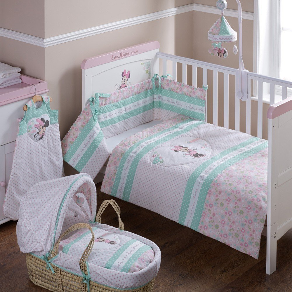 Disney Minnie Mouse Quilt and Bumper Cot Set (Pink) 32DB1001