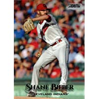 2019 Topps Stadium Club #72 Shane Bieber Baseball Card - Error Card - Calls Him 'Justin' on Back photo