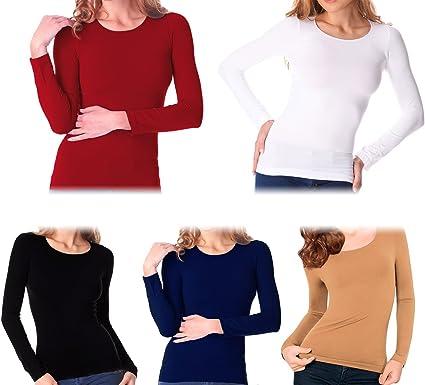 VKA20 Pack de 5 camisetas térmicas interior de felpa ass. Suami cuello redondo - XL-XXL: Amazon.es: Ropa y accesorios