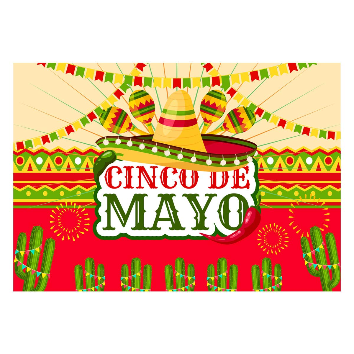 Allenjoy 7x5ft Mexican Theme Photography Backdrop Cinco de Mayo Party  Supplies Colorful FlaFiesta Background Banner Decorations Dress up Photo  Booth