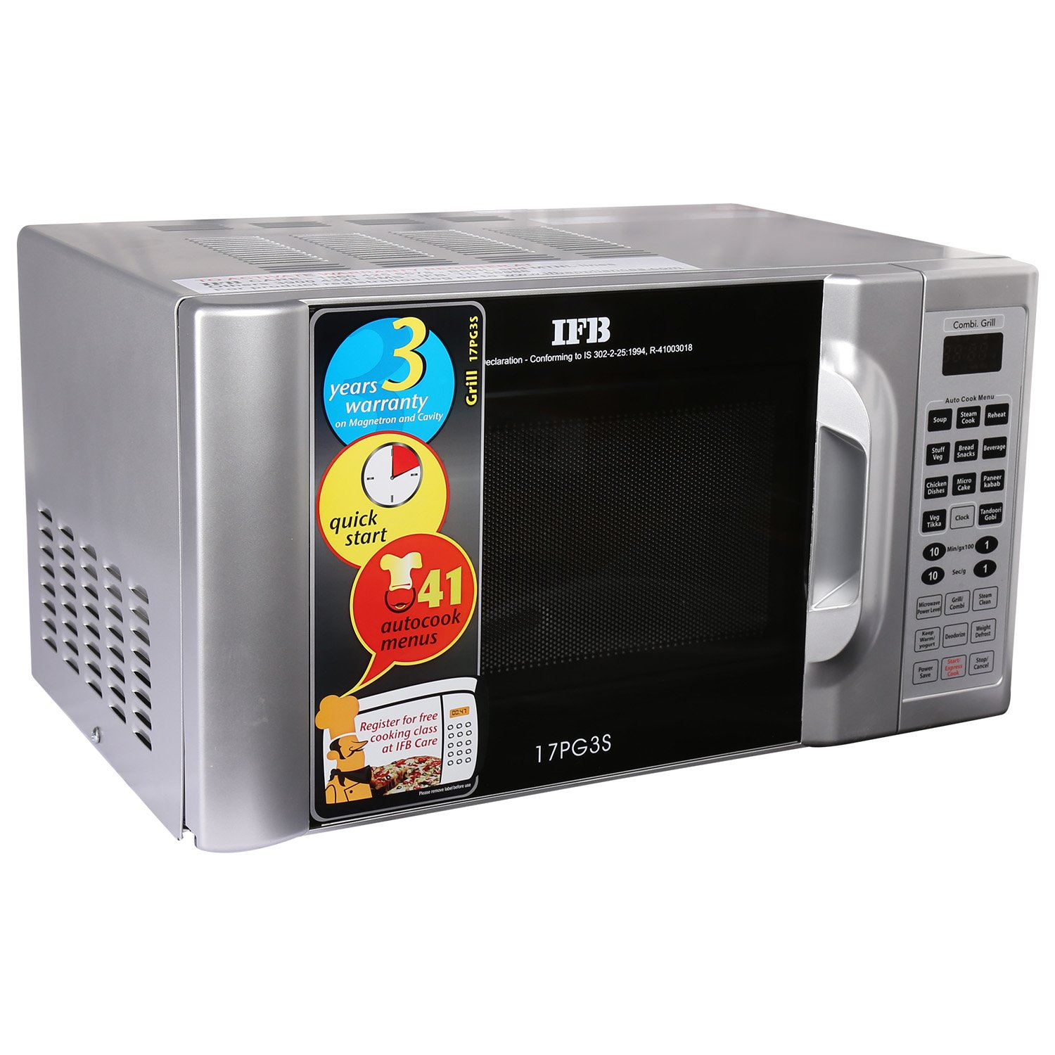 IFB 17 L Grill Microwave Oven 17PG3S Metallic Silver Amazon Home & Kitchen