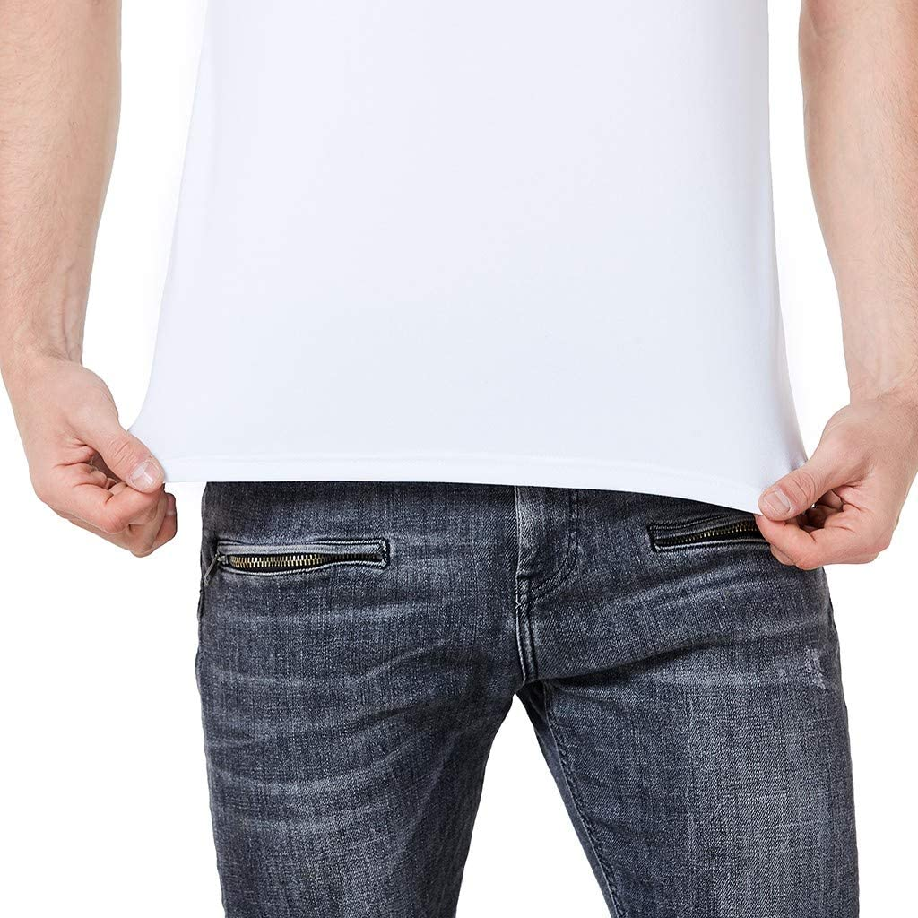 Graysky Mens Summer Creative Hand in Hand Print Tee T-Shirt Casual Short Sleeve Soft Shirts Tops