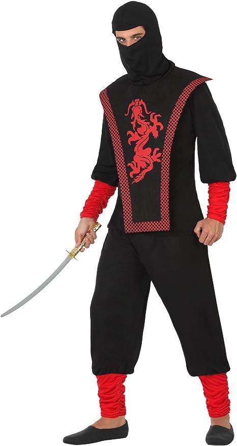 Atosa Disfraz de Ninja para Hombre: Amazon.es: Juguetes y juegos