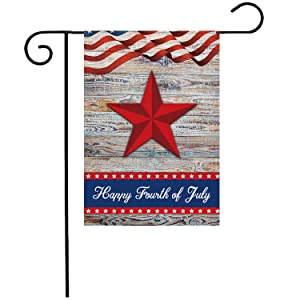 Patriotic Stars and Stripes Garden Flags, YIRHYZC 12x18