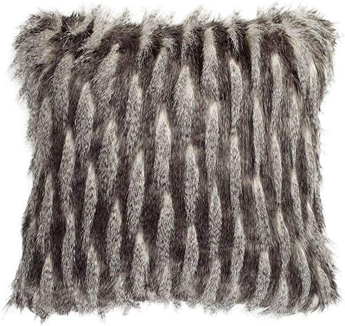 Safavieh Collection Faux Pheasant 20 Throw Pillow, Black