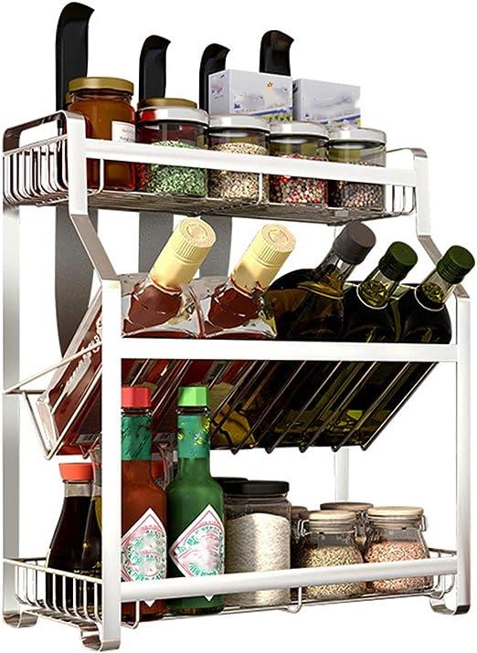 Rack de cocina, montado en la pared Vertical de doble función sin ...