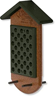 product image for Double Peanut Butter Hanging Poly Bird Feeder (Turf Green & Cedar)