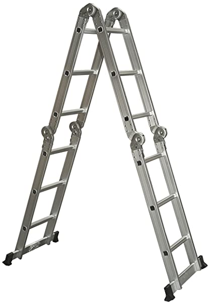 best choice products multi purpose aluminum ladder folding step