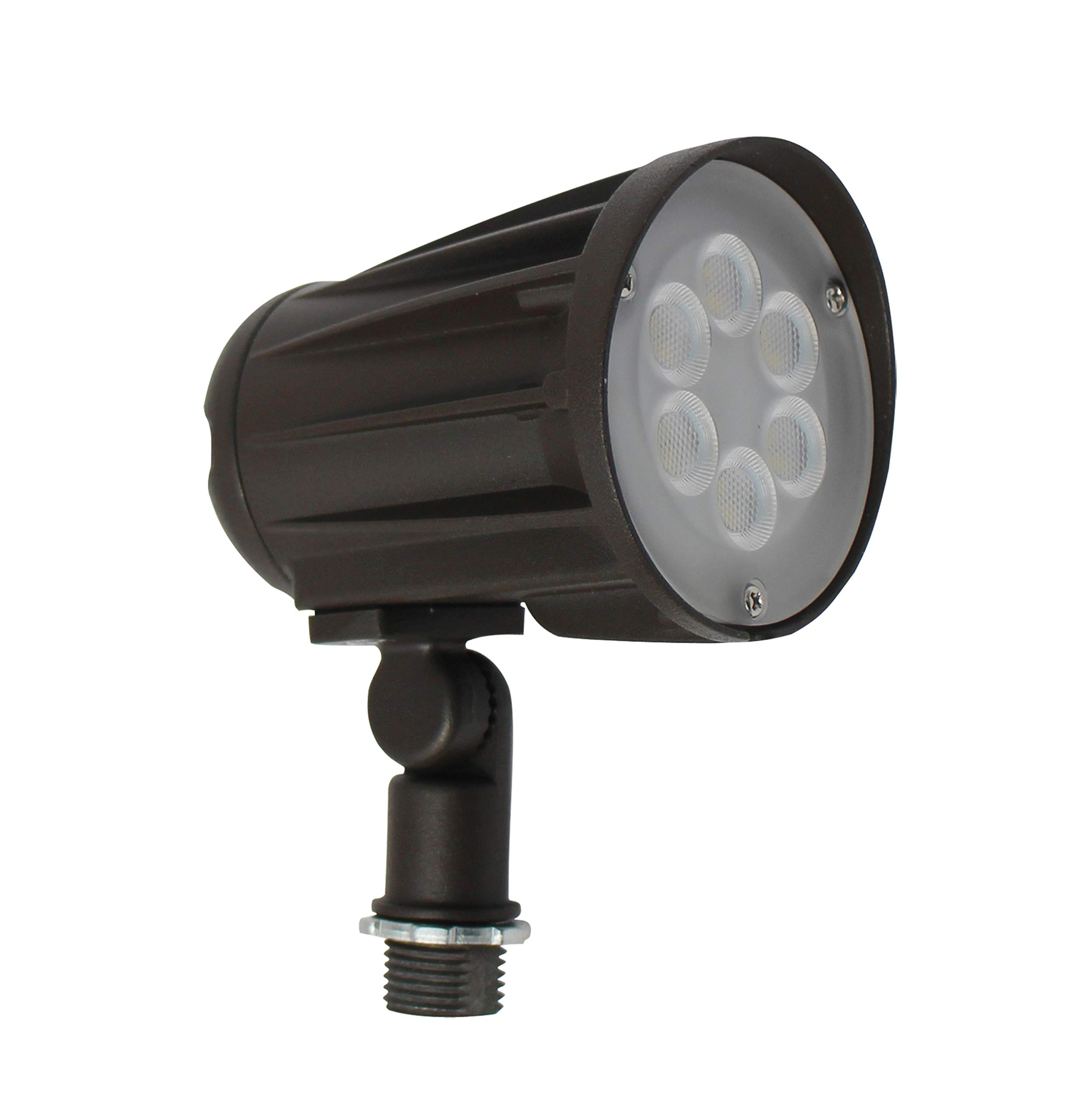 LEDrock DLC-Listed LED 15 Watt Exterior Landscape Light, 4000K Neutral White, 120V-277V, Comparable to 75-100W MH-HPS, 1700 Lumens, Threaded Box Mount, UL-Listed, Warranty Based in Denver, CO, USA