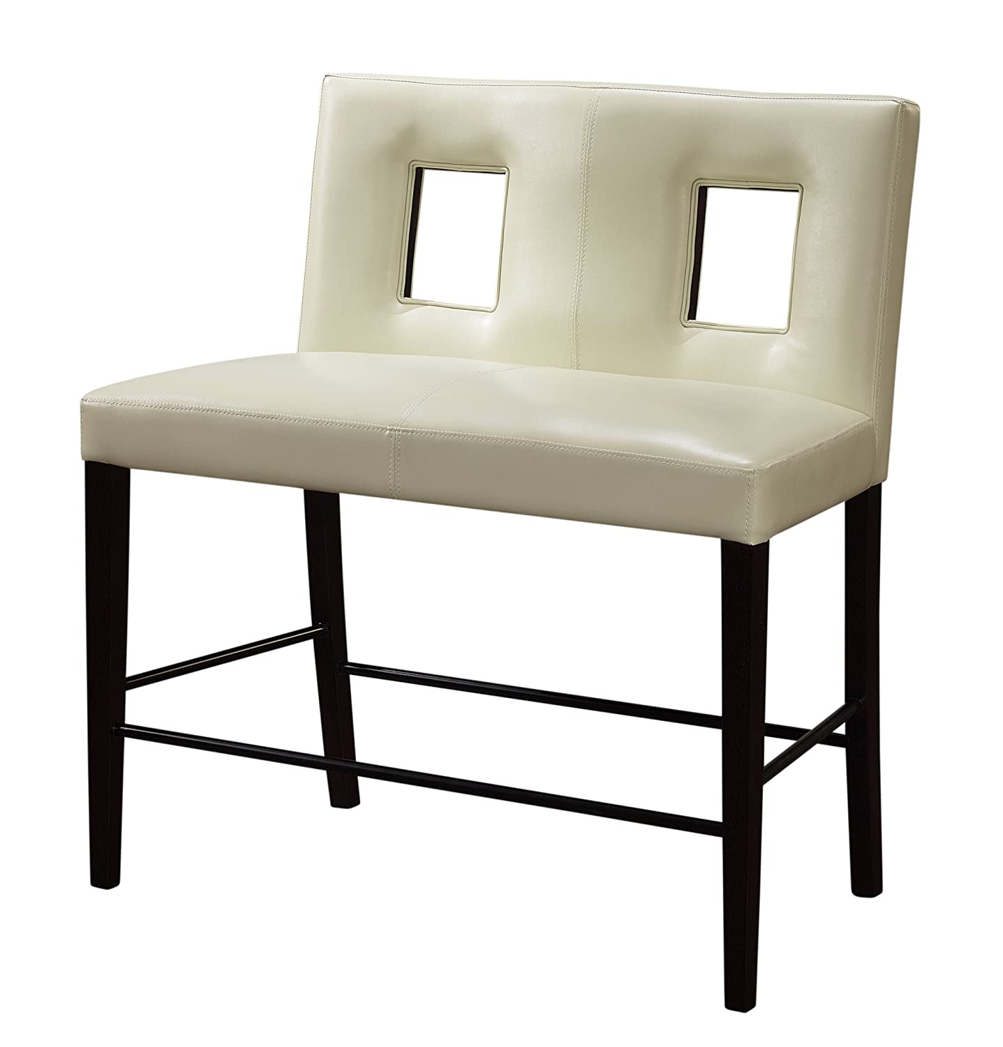 Amazon Global Furniture Bar Bench With Beige Cushion Kitchen Dining