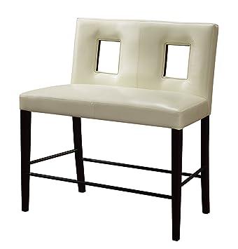 Amazon.com: Global Furniture Bar banco con cojín beige ...