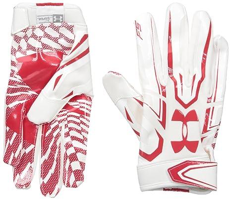 Medium Under Armour Adult F5 Receiver Gloves Purple
