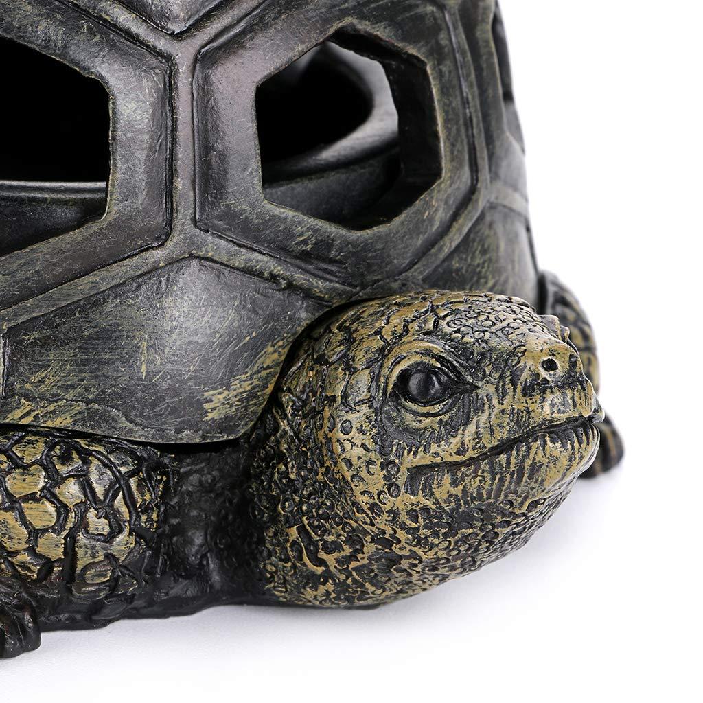 BSTKEY Cendrier en forme de tortue avec couvercles en r/ésine cadeau de d/écoration Cendrier de table cr/éatif pour utilisation en ext/érieur et int/érieur