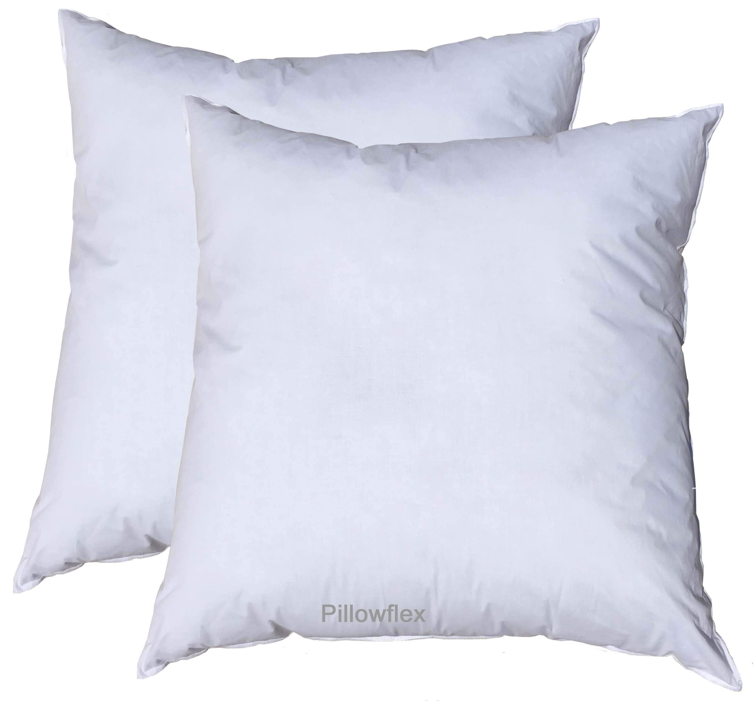 Pillowflex Premium Polyester Filled Pillow Form Inserts - Machine Washable - European Square - Made in USA (30x30 Pack of 2)