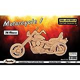 Verwirrt, Holz 3D Puzzle, 96Teile 29,2X 10,8cm x 5,25, Motorrad
