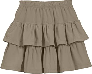 product image for City Threads Girls' Soft 100% Cotton Tiered Skirt for School or Play MADE IN USA