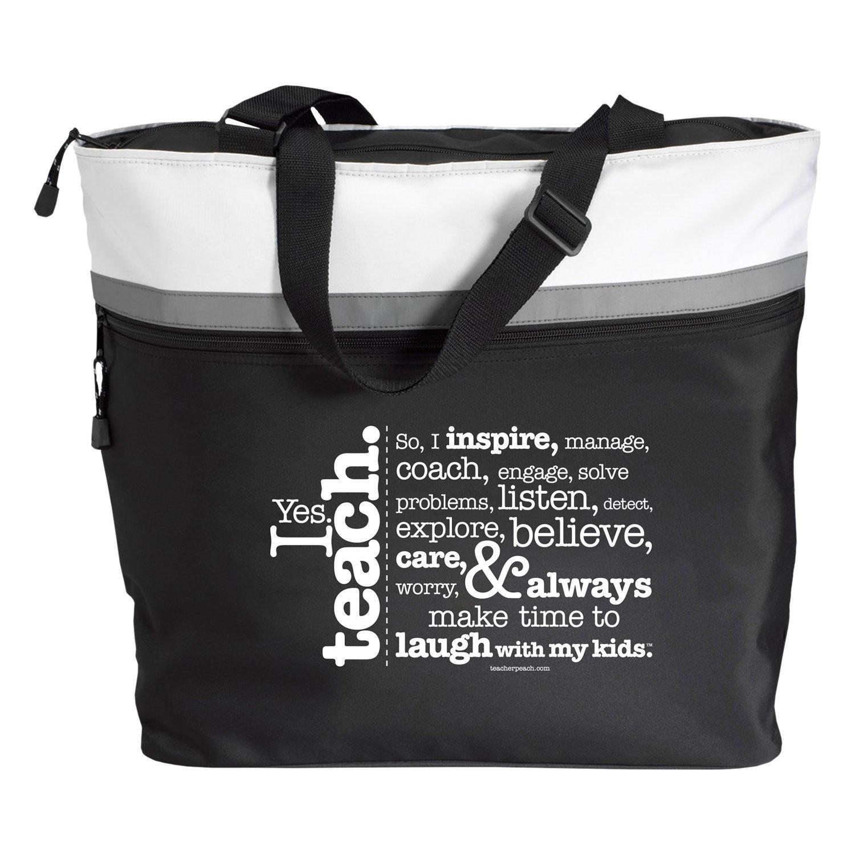 Bags for school teachers - Amazon Com Teacher Peach I Teach Jumbo Tote The Perfect Gift For Teachers Beauty