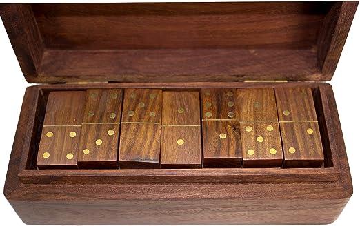 Juego Dominó Tradicional Juego de mesa clásico en una caja de madera de 28 piezas Niños Divertido