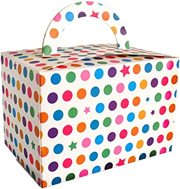 Amazon.com: Cajas de regalo con mango para fiestas coloridas ...