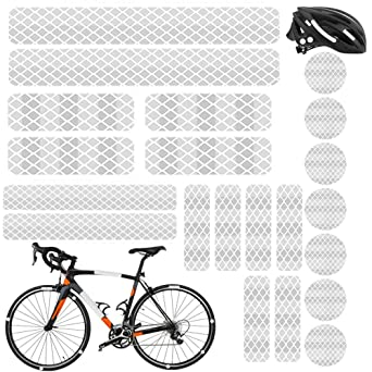 Garneck Reflective Stickers Bicycle Reflective Tape PVC Bike Warning Decals for Motorcycle Helmets Strollers Wheelchairs Night Outdoor Blue, With Arrow Style