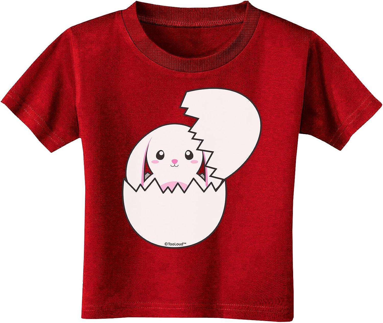TooLoud Cute Easter Bunny Hatching Toddler T-Shirt Dark