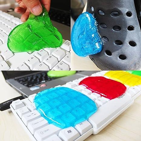 Amazon Com 5 Pcs Soft Glue Magic Gel Dust Dirt Cleaner For