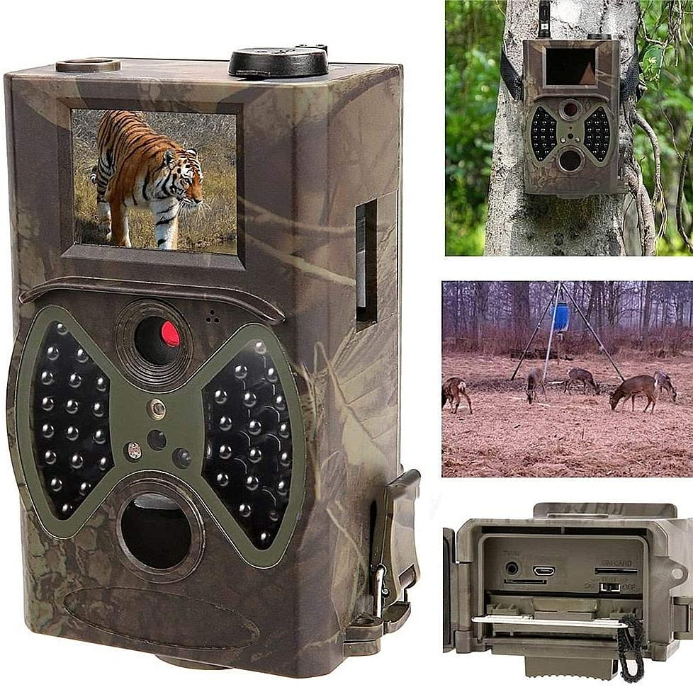 Four Wildlife Camera 1080P HD with Night Vision Motion IP66 Waterproof Trail Camera No Glow for Outdoor Garden Home Game Nature