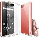 Xperia Z5 Compact Case, Ringke [Fusion] Crystal Clear PC Back TPU Bumper w/ Screen Protector [Drop Protection/Shock Absorption Technology][Attached Dust Cap] For Sony Xperia Z5 Compact - Clear