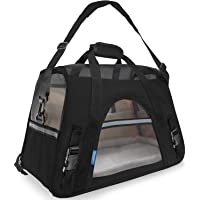 OxGord Black Pet Carrier Soft Sided Travel Bag Airline Approved For Cats & Dogs - Small
