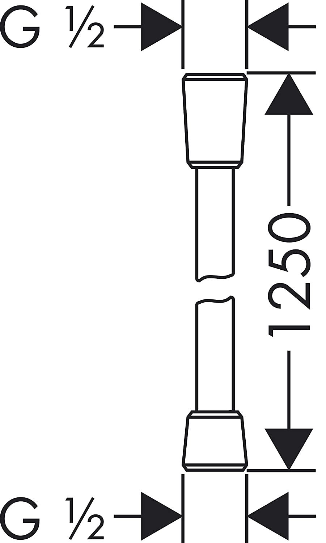 Hansgrohe 28167000 Flessibile ComfortFlex 1,25 m Argento