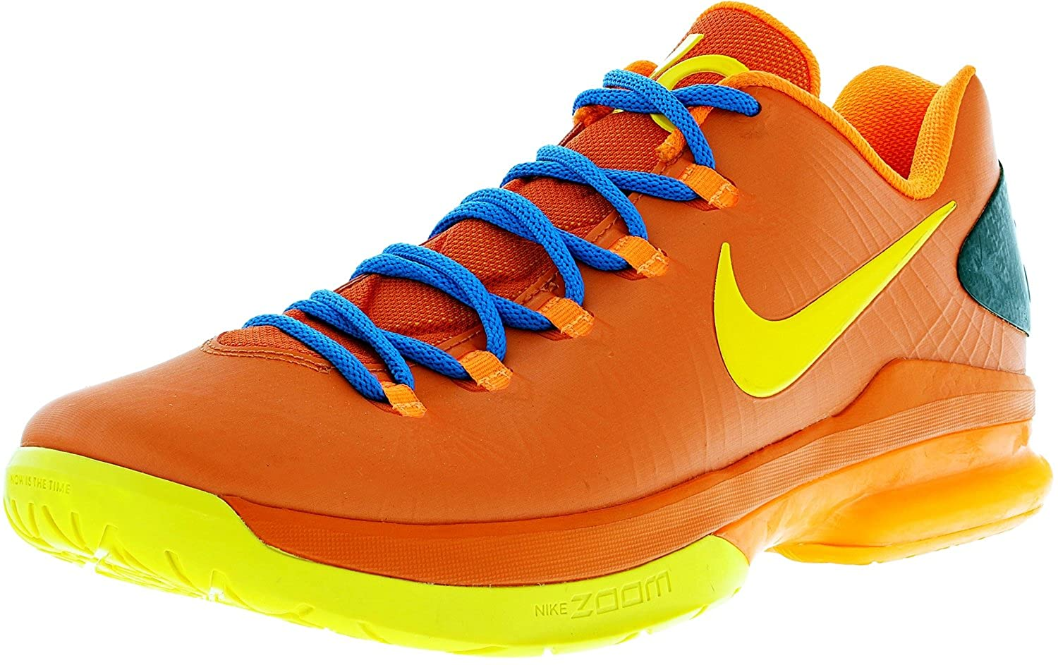 check out 296b6 5f0e3 Amazon.com   Nike KD V Elite - Team Orange True Yellow-Total Orange-Photo  Blue (11)   Basketball