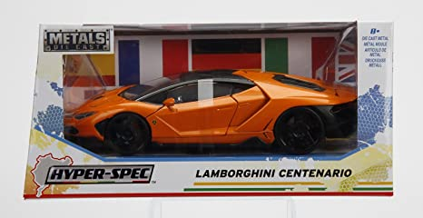 Amazon Com Lamborghini Centenario Orange Hyper Spec 1 24 Scale