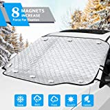 OASMU Windshield Snow Cover, Car Windshield Snow Ice Cover with 8 Magnets Inside and 4 Layers Protection, Automotive…