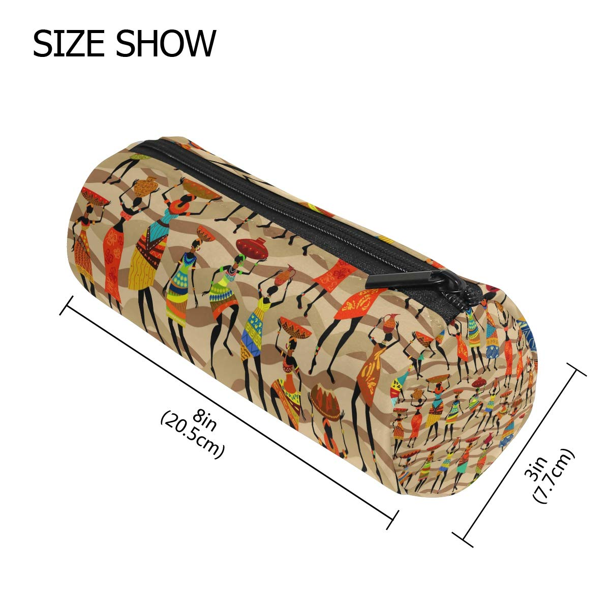 1eaed11c567b Amazon.com : BETTKEN Zipper Pencil Case African Tribal Women Pattern ...