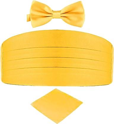 Flywife Cinturón de satén para hombres Corbata de lazo Pañuelo de ...