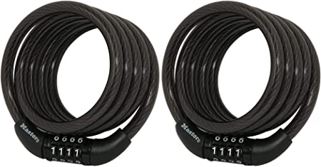 Combination cable lock 4 ft