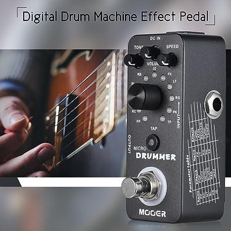 Bulufree Micro Drum - Máquina de guitarra digital con pedal, con ...