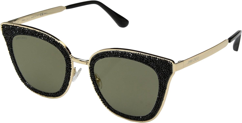 JIMMY CHOO Jimmy Choo Damen Sonnenbrille » LIZZY/S«, schwarz, 2M2/K1 - schwarz/gold