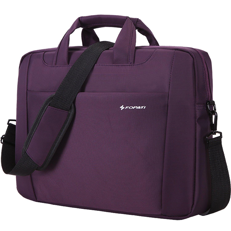 """Laptop Shoulder Bag, YouPeck 14 inch Laptop Bag Nylon Water Resistant Shoulder Messenger Bag Business Office Bag for Men Women 14.1"""" Notebook/Computer/Chromebook/MacBook/Acer/HP/Dell/Lenovo - Purple good"""