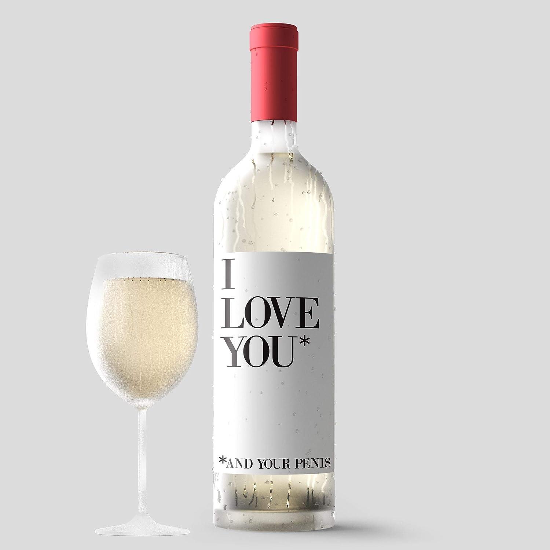 Naughty Bedroom Valentines Day Custom Wine Label & Card ...