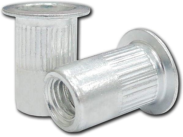 Rivet Nuts Threaded Inserts 25 Pack 1 4 20 Unc Aluminum Insert Nut Rivnut Nutsert Threaded Rivets Insert Riv Nuts Rivet And Thread Threaded Rivet Nutsert Tool Super Deals Shop Amazon Com Industrial Scientific